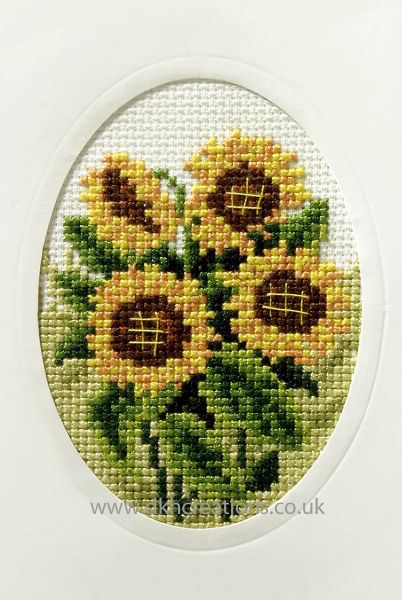 Sunflowers Greeting Card Cross Stitch Kit
